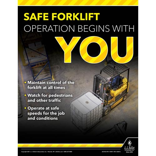 Safe Forklift Operation Begins With You - Workplace Safety Training Poster (017724)