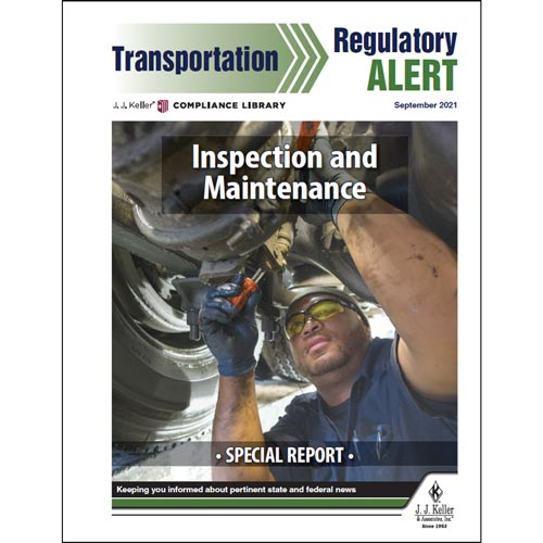 Special Report - Inspection and Maintenance (018421)