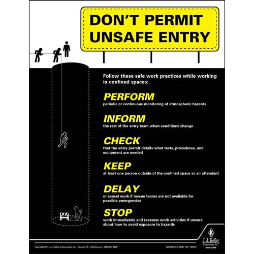 Don't Permit Unsafe Entry - Construction Safety Poster (017617)