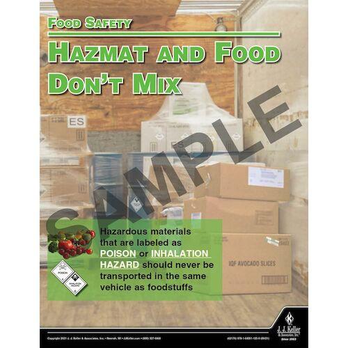 Hazmat And Food Don't Mix - Hazmat Transportation Poster (017653)