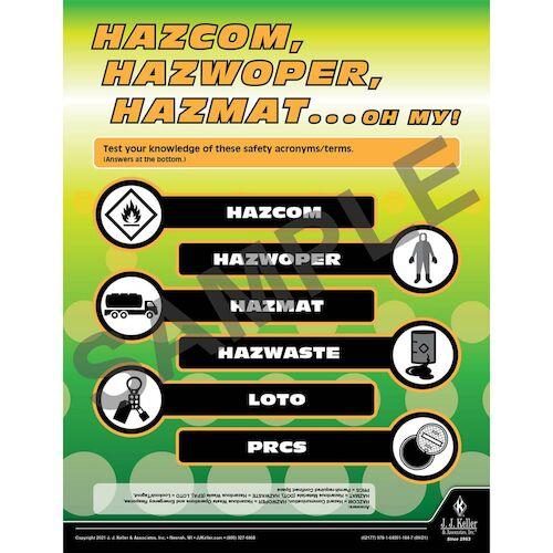Hazcom, Hazwoper, Hazmat...Oh My - Workplace Safety Training Poster (017605)