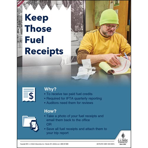 Keep Those Fuel Receipts - Motor Carrier Safety Poster (017677)
