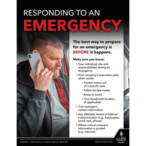 Responding To An Emergency - Transport Safety Risk Poster (017713)