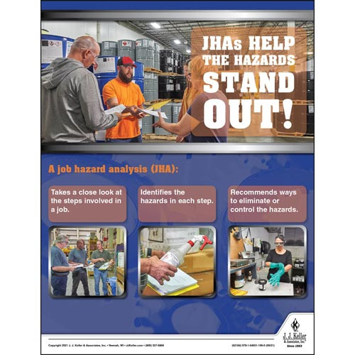 JHAs Help The Hazards Stand Out - Workplace Safety Training Poster (017725)