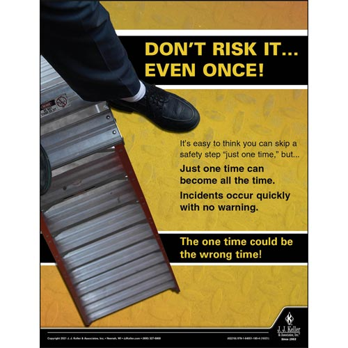Don't Risk It - Workplace Safety Training Poster (017606)