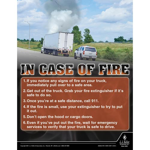 In Case of a Fire - Transportation Safety Poster (017702)