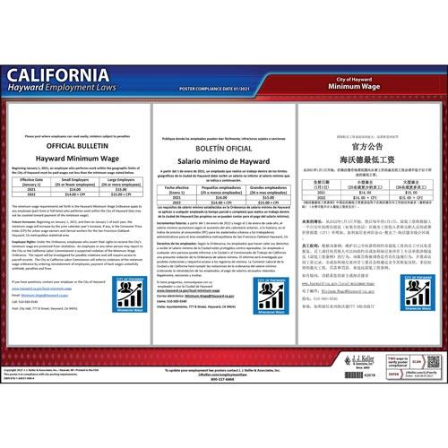California / Hayward Minimum Wage Poster (017875)