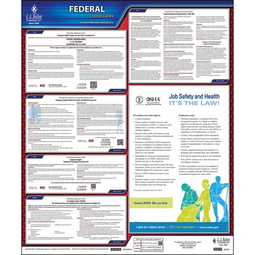 2021 Federal Labor Law Poster with FMLA Notice (03586)
