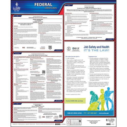 2021 Federal Labor Law Poster - No FMLA (00655)