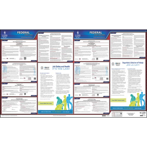 Federal Labor Law Poster with FMLA - Bilingual (04002)