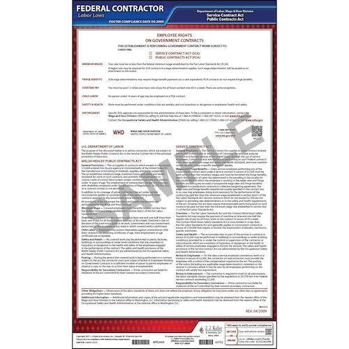 Walsh-Healey, McNamara-O'Hara Federal Contract Poster (02041)