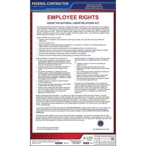 Notification of Employee Rights Federal Contract Posters (03590)