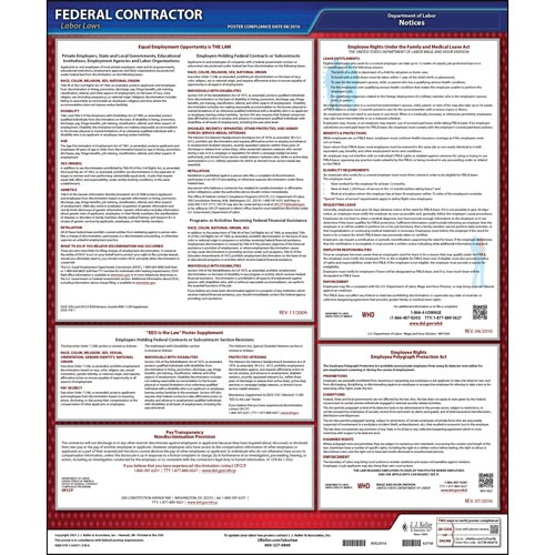 Federal Contractor Applicant Information Poster (015610)