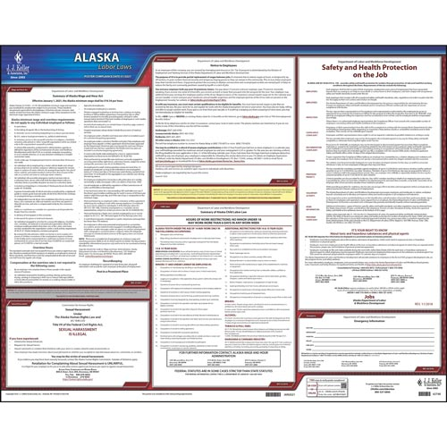 2021 Alaska & Federal Labor Law Posters (03949)