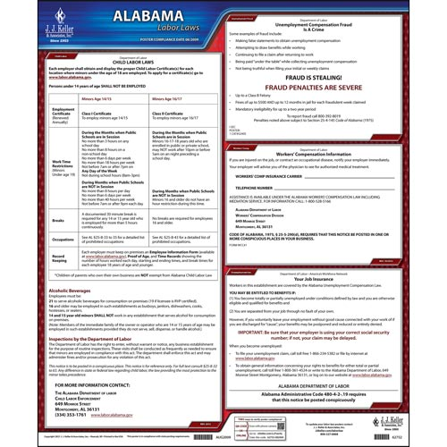2021 Alabama & Federal Labor Law Posters (03950)
