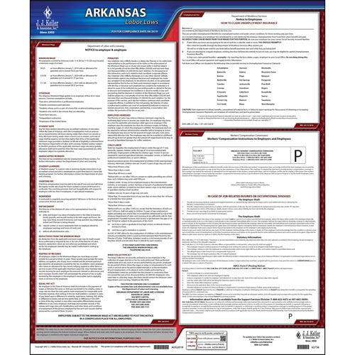 2021 Arkansas & Federal Labor Law Posters (03968)
