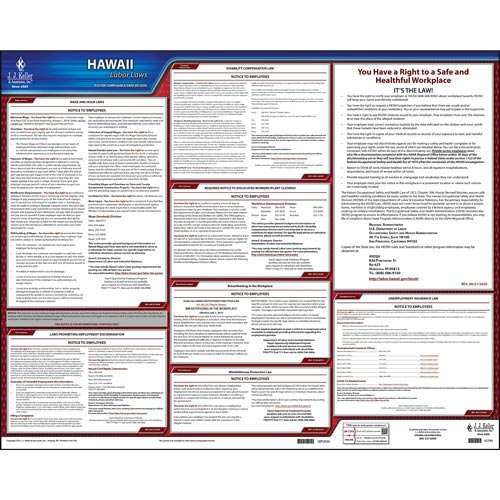 2021 Hawaii & Federal Labor Law Posters (03988)
