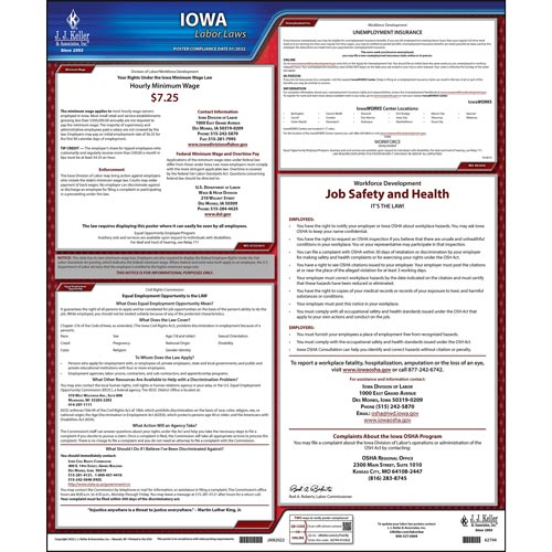 2021 Iowa & Federal Labor Law Posters (03953)