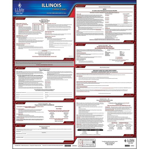 2021 Illinois & Federal Labor Law Posters (03954)