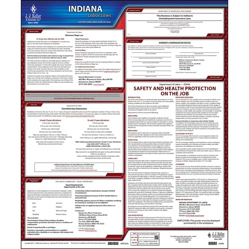 2021 Indiana & Federal Labor Law Posters (03974)