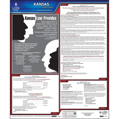 2021 Kansas & Federal Labor Law Posters (03989)