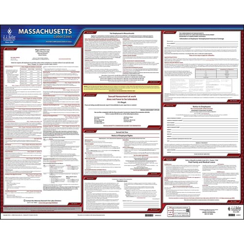 2021 Massachusetts & Federal Labor Law Posters (03975)