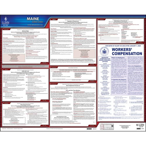2021 Maine & Federal Labor Law Posters (03956)