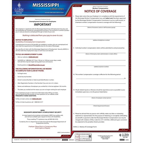2021 Mississippi & Federal Labor Law Posters (03977)