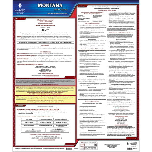 2021 Montana & Federal Labor Law Posters (03993)