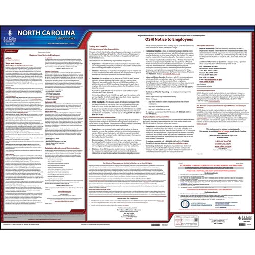 2021 North Carolina & Federal Labor Law Posters (03958)