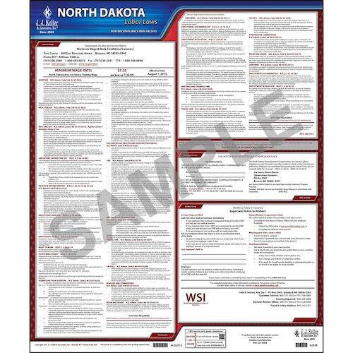 2021 North Dakota & Federal Labor Law Posters (03959)
