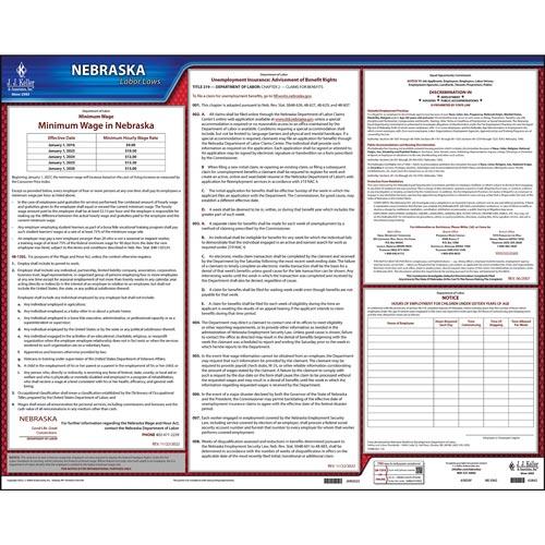 2021 Nebraska & Federal Labor Law Posters (03978)
