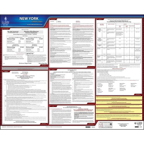 2021 New York & Federal Labor Law Posters (03980)
