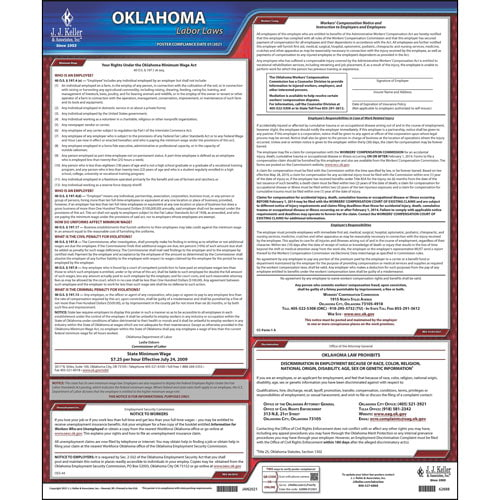 2021 Oklahoma & Federal Labor Law Posters (03961)