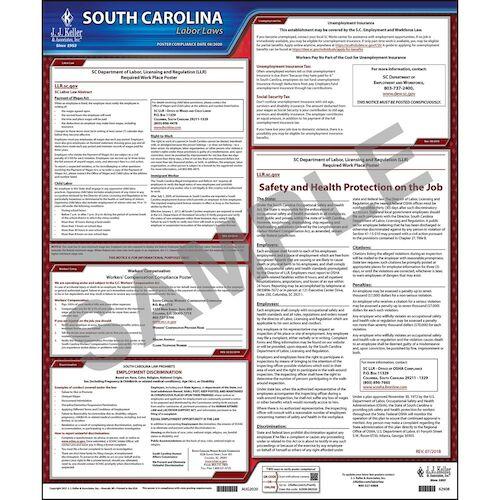 2021 South Carolina & Federal Labor Law Posters (03963)