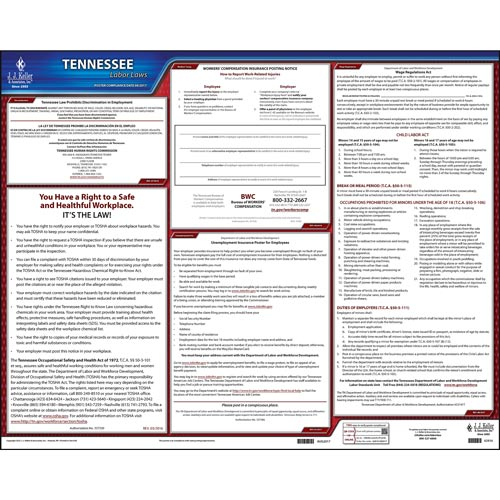 2021 Tennessee & Federal Labor Law Posters (03982)