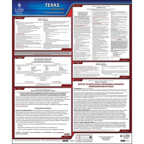 2021 Texas & Federal Labor Law Posters (03965)
