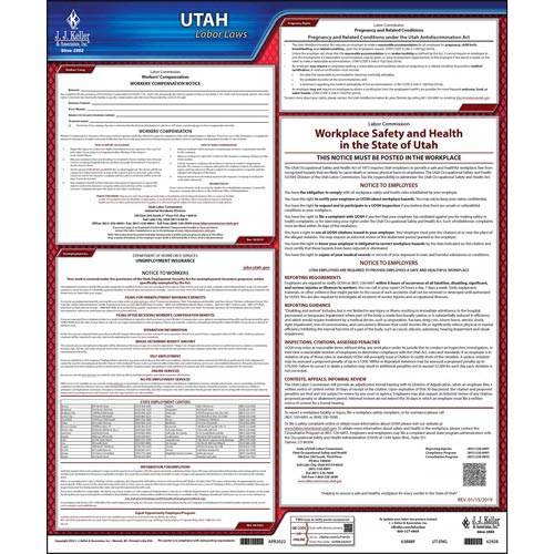 2021 Utah & Federal Labor Law Posters (03999)