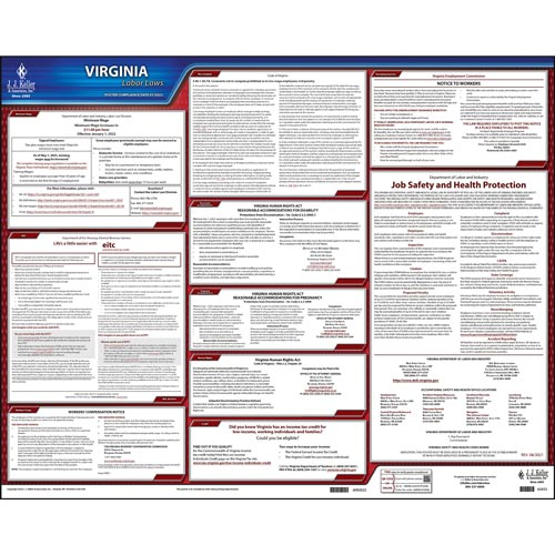 2021 Virginia & Federal Labor Law Posters (03966)