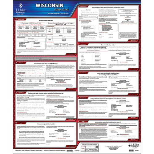 2021 Wisconsin & Federal Labor Law Posters (04000)