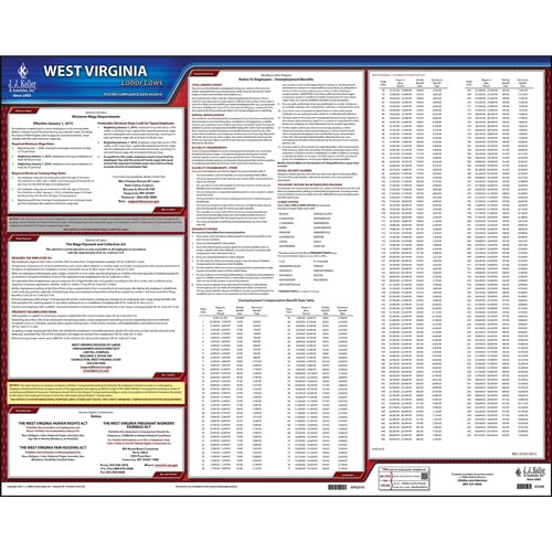 2021 West Virginia & Federal Labor Law Posters (04001)