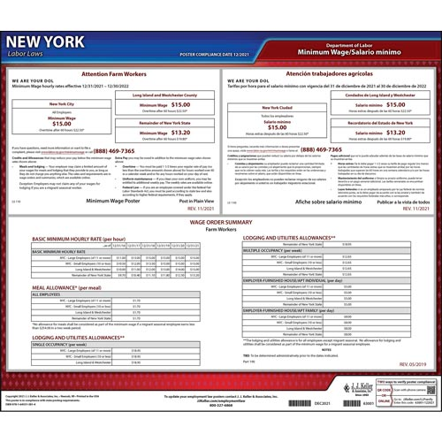 New York Industry-Specific Minimum Wage Posters (04959)