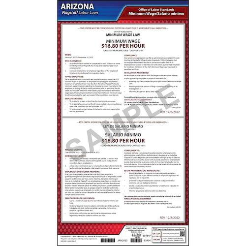 Arizona / Flagstaff Minimum Wage Poster (013070)