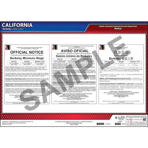 California / Berkeley Municipal Code Poster (012498)