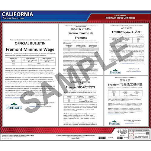 California / Fremont Minimum Wage Poster (015487)