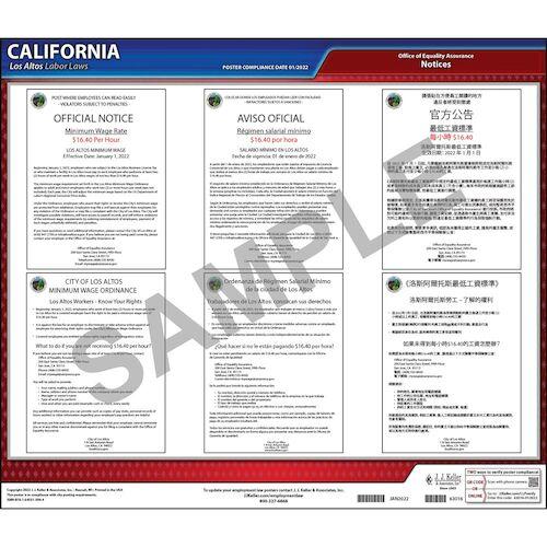 California / Los Altos Municipal Code Poster (012503)