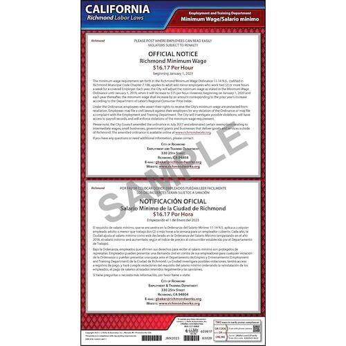 California / Richmond Minimum Wage Poster (012510)