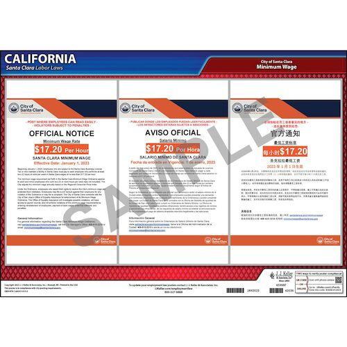 California / Santa Clara Minimum Wage Poster (012513)