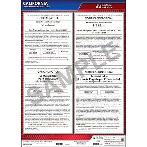 California / Santa Monica Municipal Code Poster (012515)