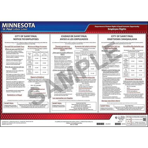 Minnesota / St. Paul Ordinances Poster (012923)